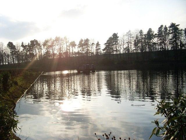 Visible part of Bankell Reservoir