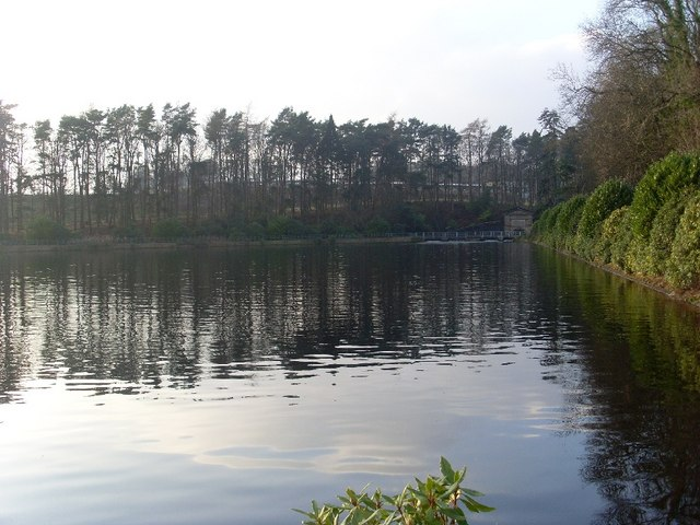 View across small section of Craigmaddie Reservoir