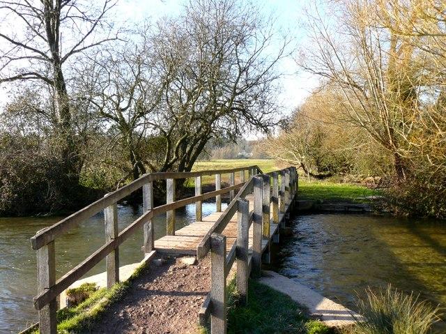 Wherwell - Footbridge Over the River Test