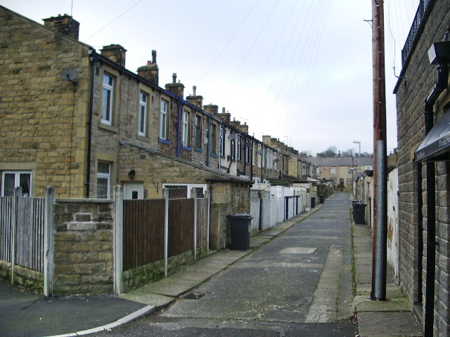 Back street near Grey Street, Barrowford