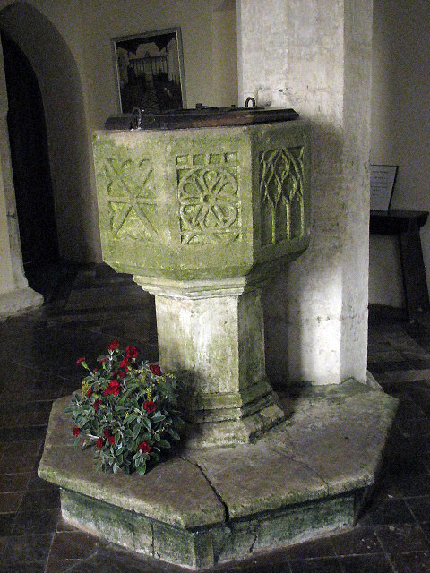 All Saints Church - baptismal font