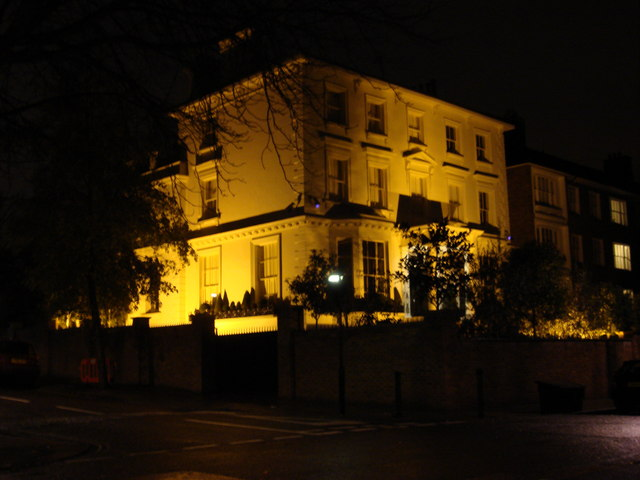 Floodlight house on Greville Place