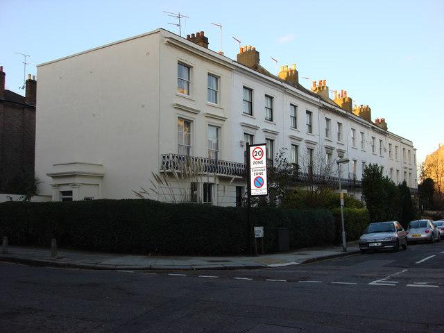 Terraced housing on Bolton Rd