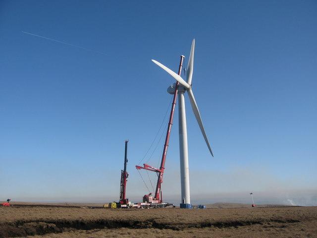 Turbine Tower No 10 under construction