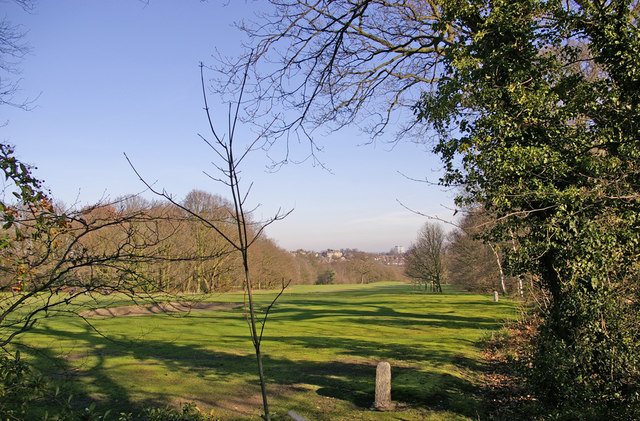 Enfield Golf Course from Worlds End Lane, London N21