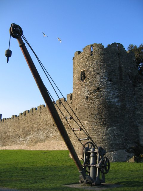 Derrick and Conwy town walls