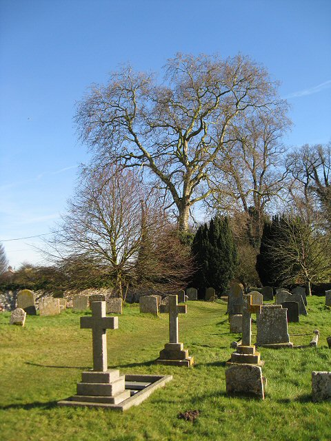 The graveyard at St Peter's Church