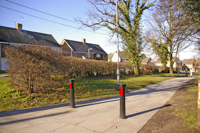 Ancient Hedge with Modern Footpath, Worlds End Lane, London N21