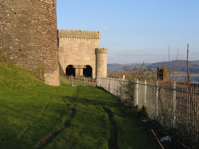 Entrance to Conwy rail bridge