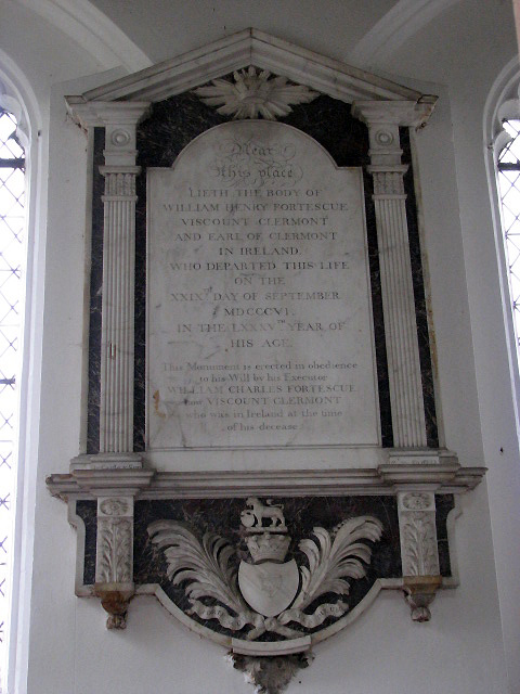 St Andrew's Church - wall monument