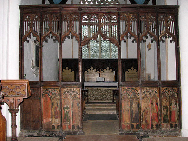 The church of St Peter & St Paul - rood screen