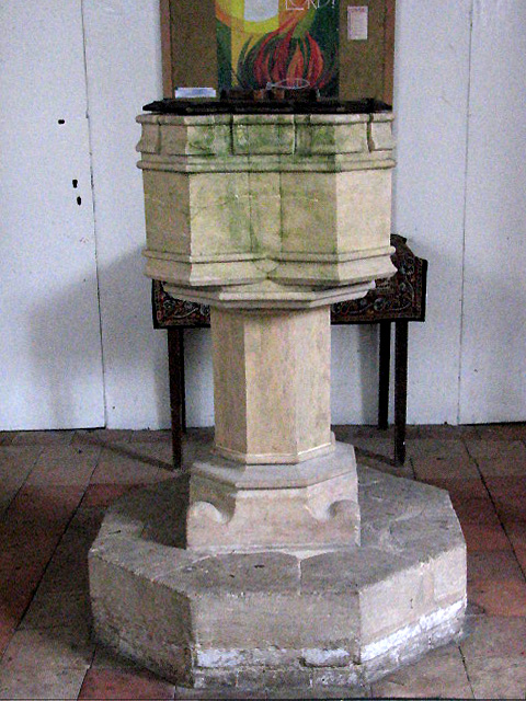The church of St Peter & St Paul - baptismal font