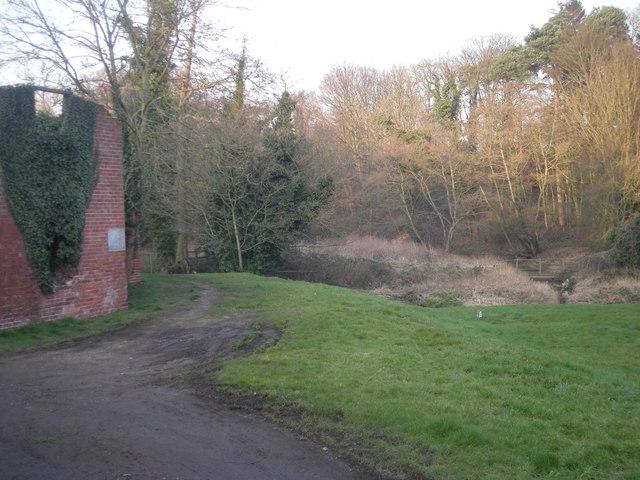 Footpath & footbridge at Kemberton Mill