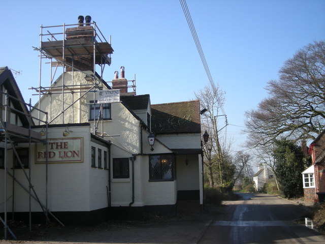 The builders are in at 'The Red Lion'