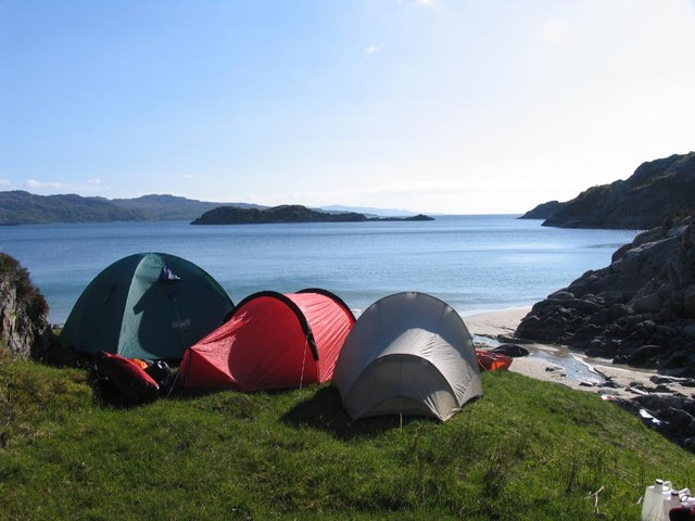 Cramped camping - open vista