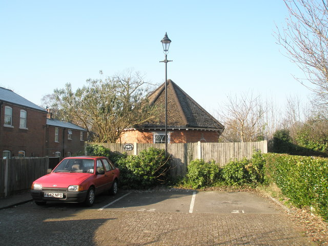 Hexagonal outbuilding at The Old Workhouse