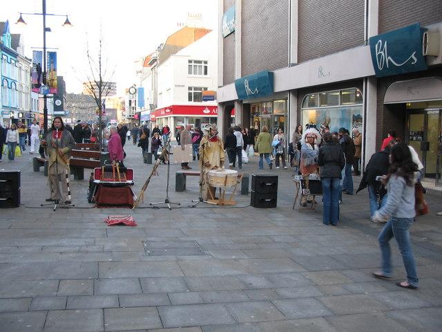 Native Americans on Northumberland Street