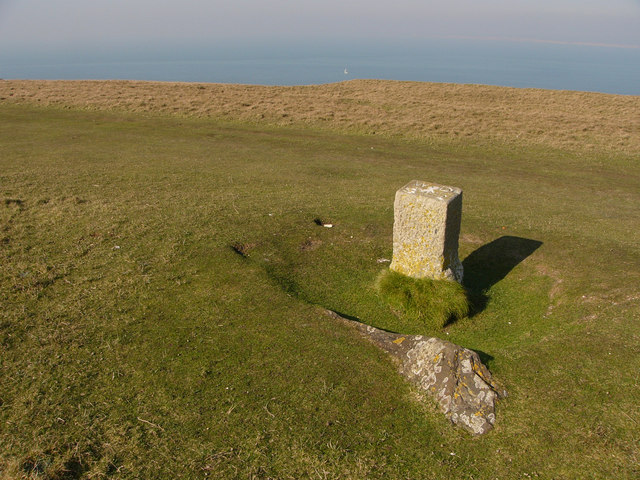 Boundary stone, West High Down