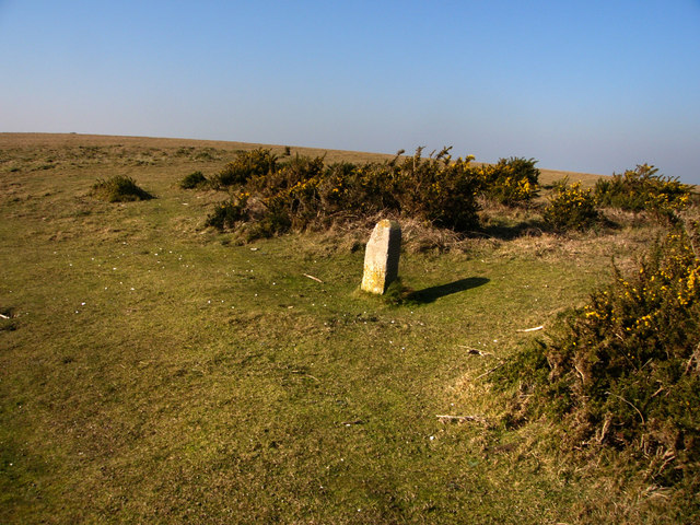 Milestone just south of the Tennyson Trail on West High Down