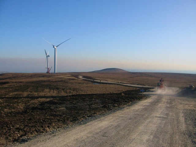 Scout Moor Wind Turbines and Knowl Hill