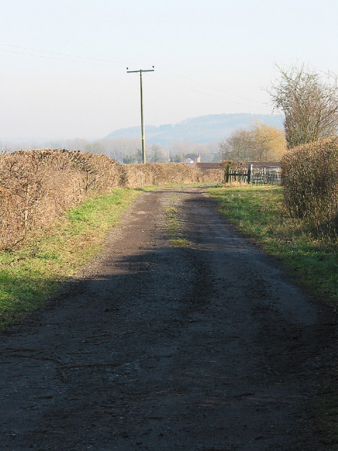 Track at the edge of Hartpury