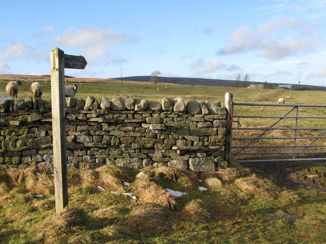 Footpath to Knock Shield