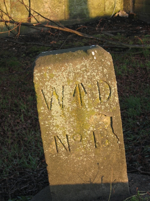 War Department boundary stone 18 at Chester Castle
