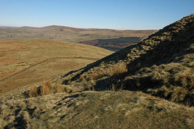 The north slopes of Shutlingsloe