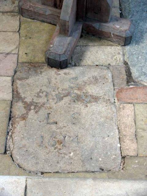 St Cecilia, West Bilney, Norfolk - Ledger Slab
