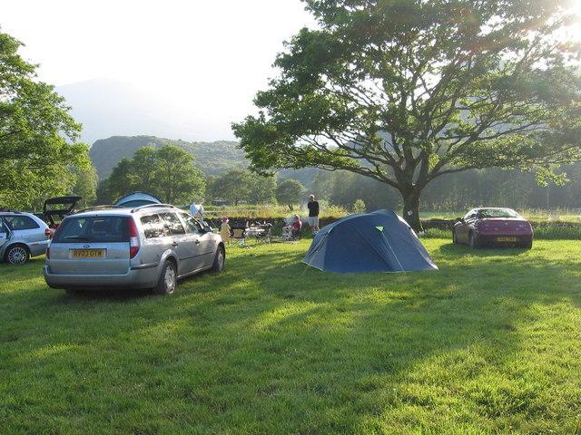 Camping at Cae Du campsite