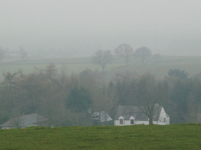 Mouswald countryside in the fog