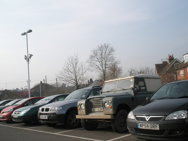 Land Rover in the station car park