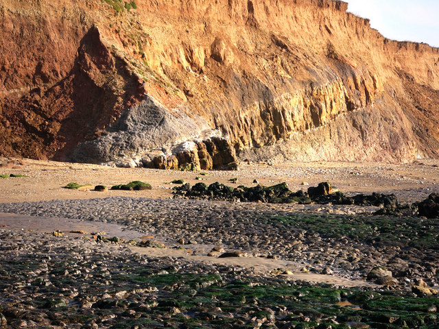 Beach and cliff at Hanover Point