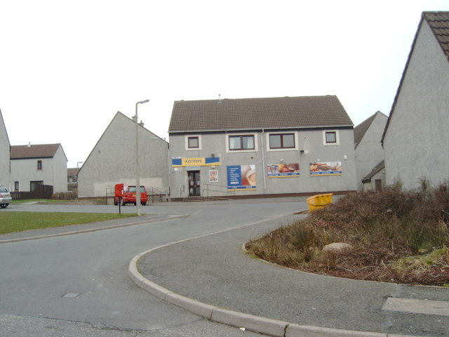 Shop in housing estate, Shawhill Road, Annan