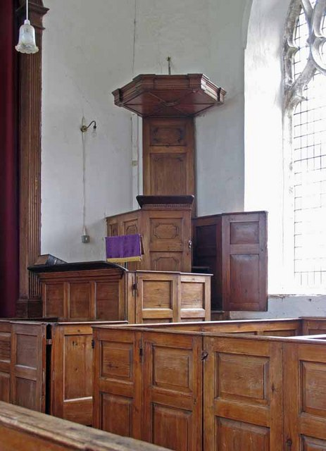 St Mary's Church, East Walton, Norfolk - Triple Pulpit