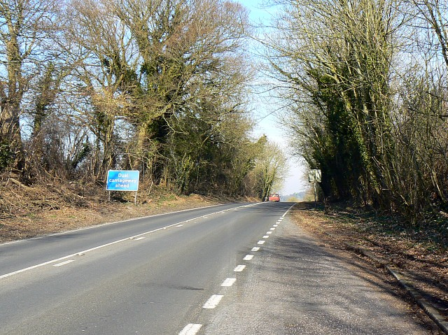 A33 north-east of Kings Worthy, Hampshire