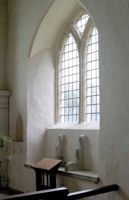 St Mary's Church, Gayton Thorpe, Norfolk - Sedilia