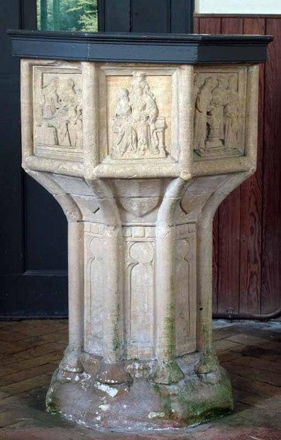 St Mary's Church, Gayton Thorpe, Norfolk - Font