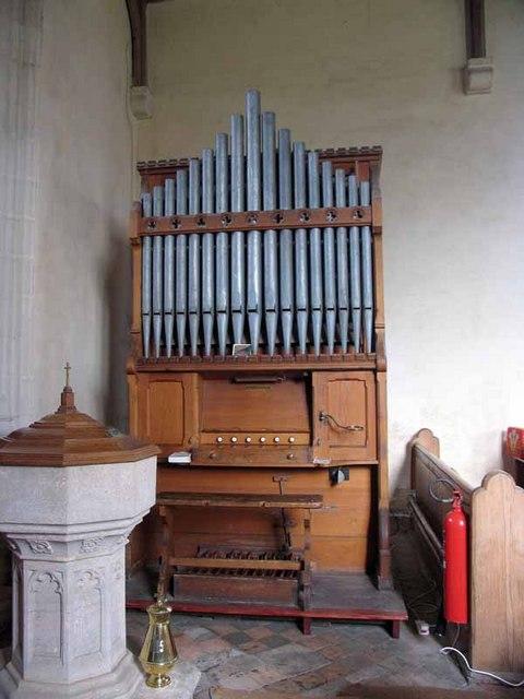 St Andrew's Church, Longham, Norfolk - Organ