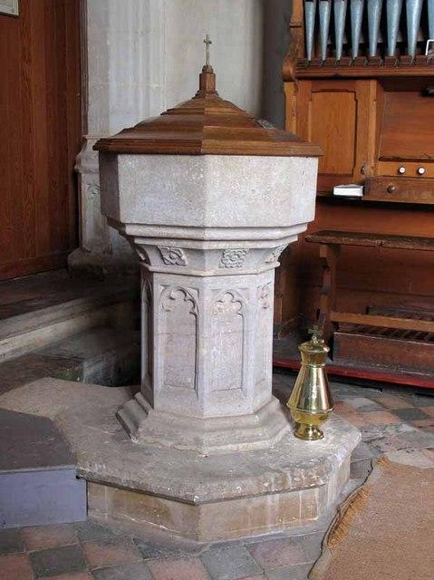 St Andrew's Church, Longham, Norfolk - Font