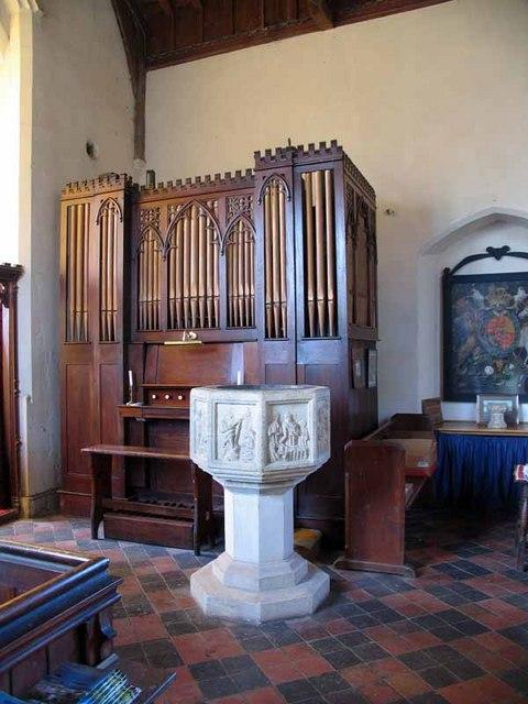 St Peter & St Paul, Wendling, Norfolk - Organ & Font