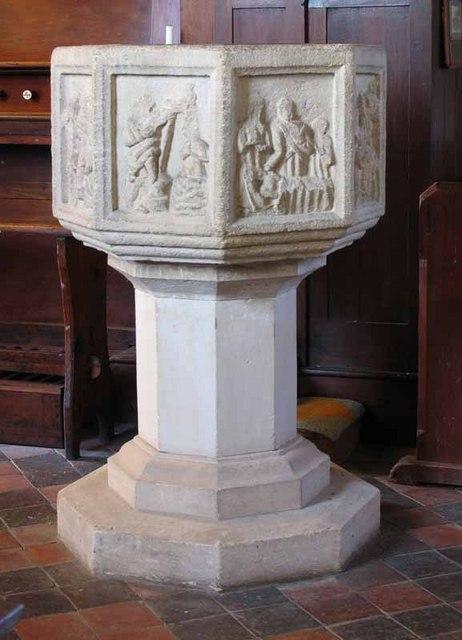 St Peter & St Paul, Wendling, Norfolk - Font