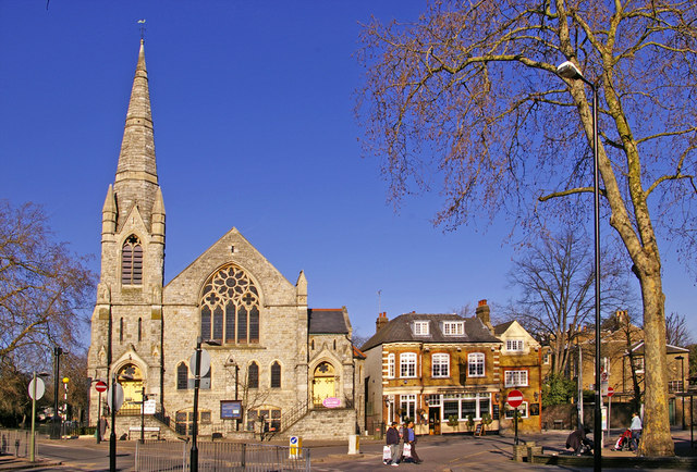 Trinity Church, Stag Public House and side of Register Office, Enfield