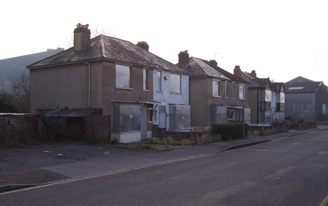 Boarded up houses in Hamilton Road - Portchester