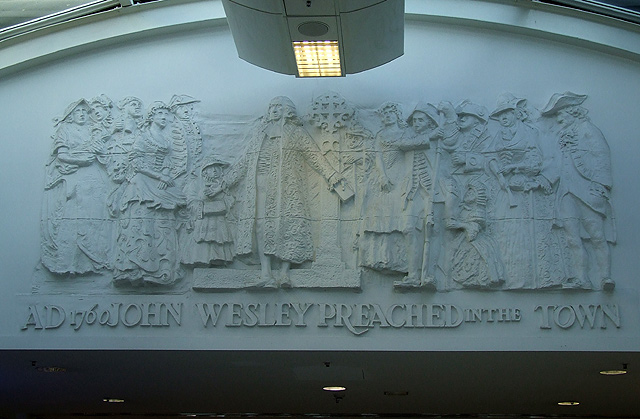 Wesley Wall Sculpture, Wulfrun Centre, Wolverhampton