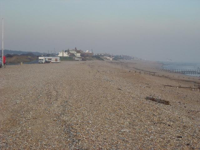 Beach at Pevensey Sluice