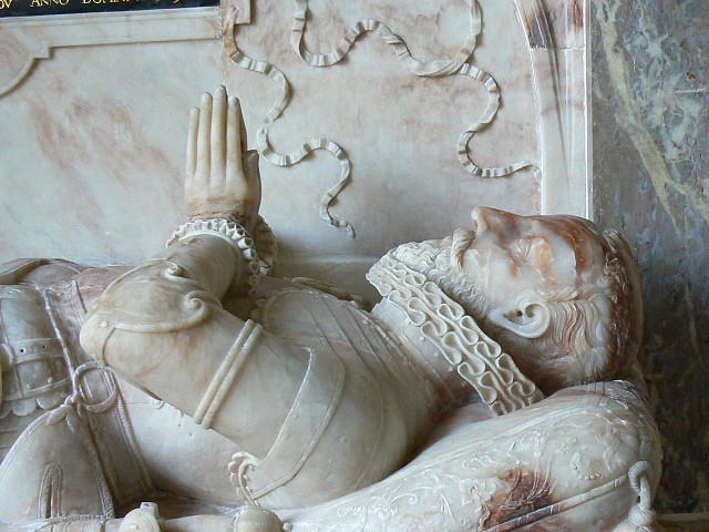 Memorial to William Waloppe esquire, St James's church, Upper Wield, Hampshire