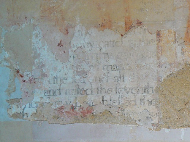 Wall painting, St James's church, Upper Wield, Hampshire