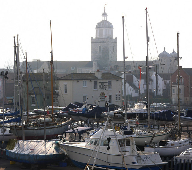 The Bridge Inn, and Portsmouth Cathedral