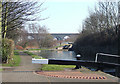 SJ9100 : Canal by Wolverhampton Lock No 15 by Roger  Kidd